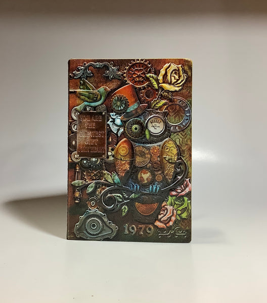 Embossed Steampunk Owl Multicolor Notebook Diary Journal