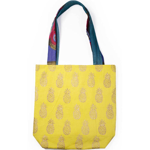 Metallic Pineapple Tote - Vibrant Yellow - Matr Boomie (Bag)