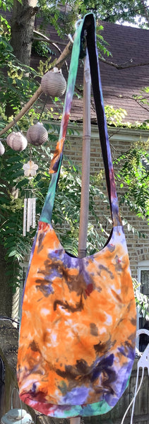 Multi-Color Crossbody Tie Dye Hippie Hobo Purse