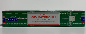 60's Patchouli Incense Sticks 15 Gram Box - Satya
