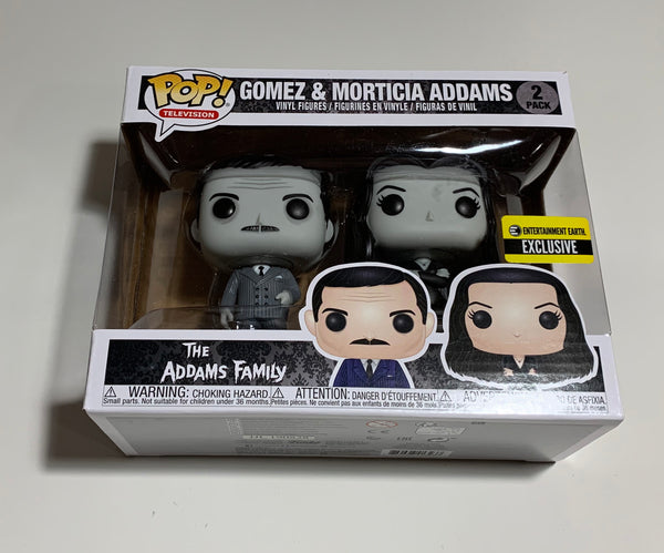 Addams Family Morticia and Gomez Black-and-White Pop Vinyl Figure 2-Pack