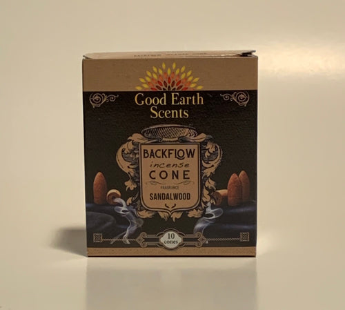 Sandalwood Good Earth Scents Backflow Incense Cones