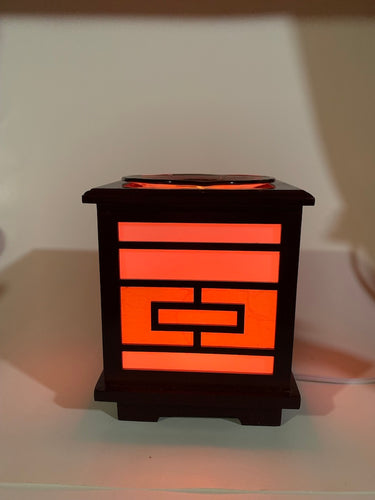 Wood Lantern Fragrance Oil Electric Diffuser Lamp