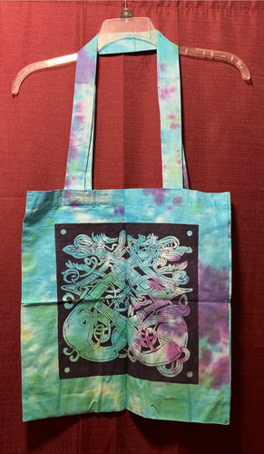 Celtic Dragon Tote Shoulder Bag Cotton