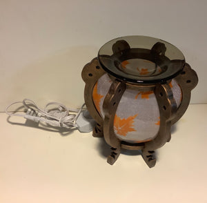 Fall Leaf Round Design Scented Oil Diffuser Aroma Lamp