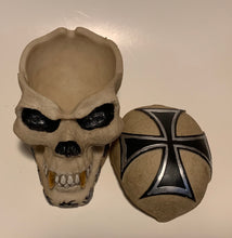 Load image into Gallery viewer, Iron Cross Skull with Removable Lid