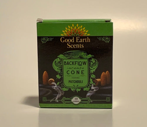 Patchouli Good Earth Scents Backflow Incense Cones