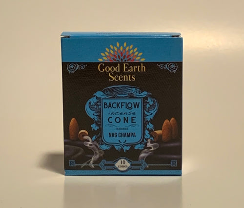 Nag Champa Good Earth Scents Backflow Incense Cones