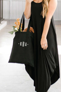 Personalized tote Bag - Black 3