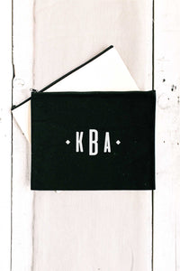 Personalized Zip Clutch - Black 3