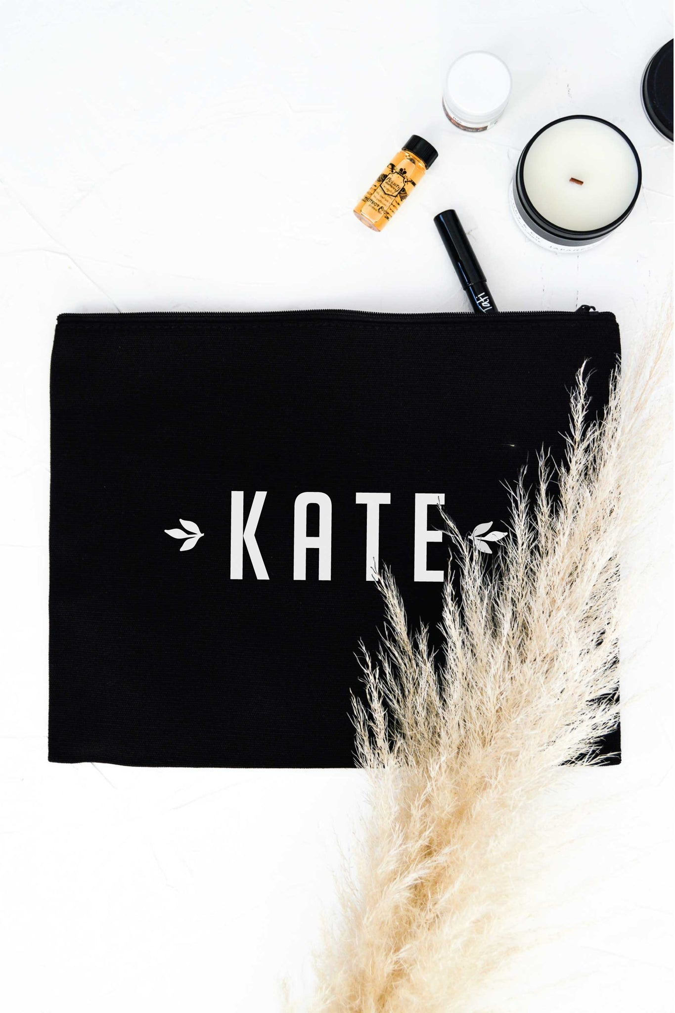 Personalized Zip Clutch - Black 4