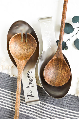 Personalized Spoon Rest - Silver 1