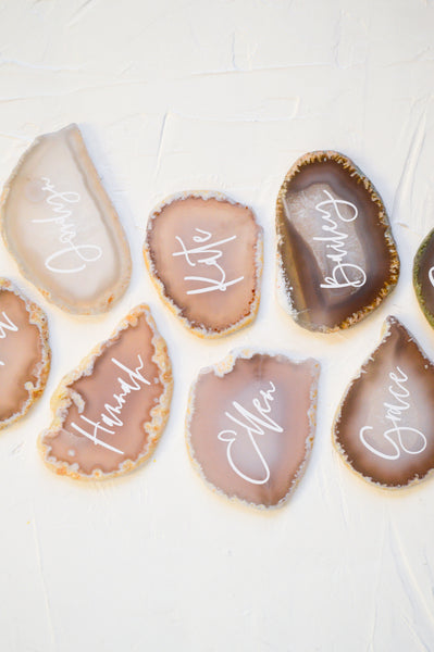 Personalized Agate Stones - Neutral 1