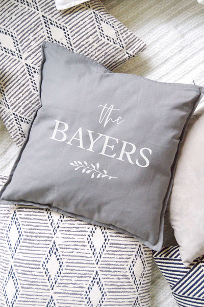 Personalized Pillow - Gray 1