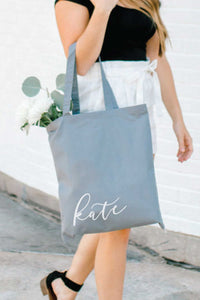 Personalized Tote Bag - Gray 1