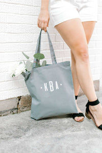 Personalized Tote Bag - Gray 3