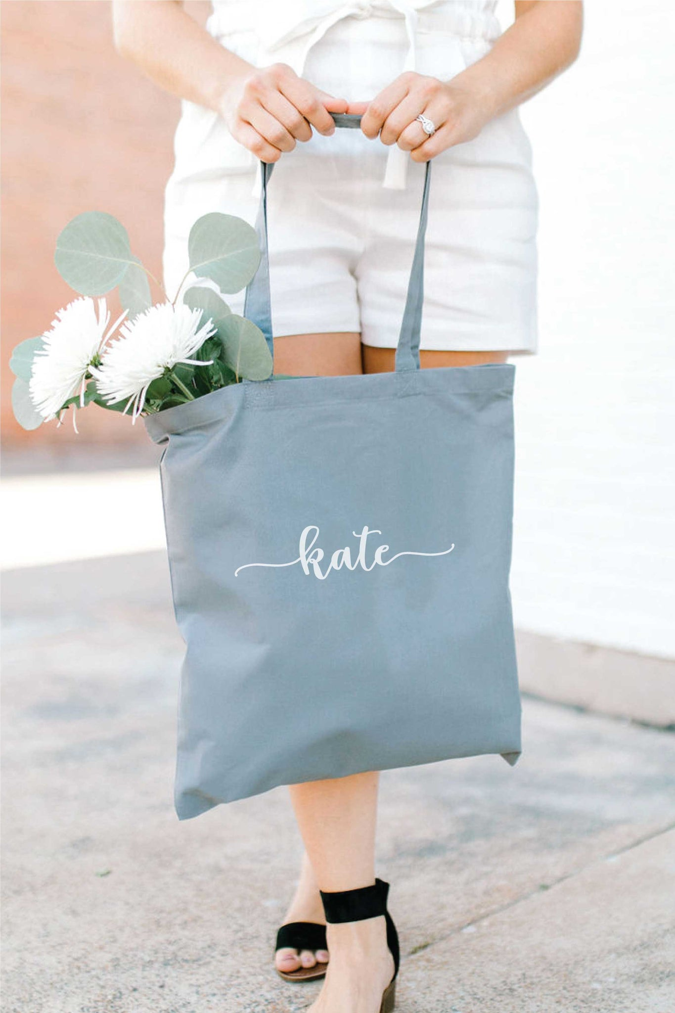 Personalized Tote Bag - Gray 2