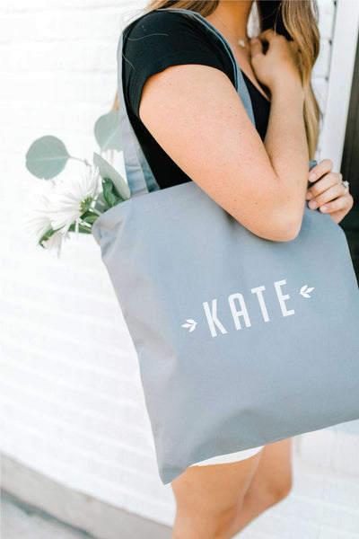 Personalized Tote Bag - Gray 4