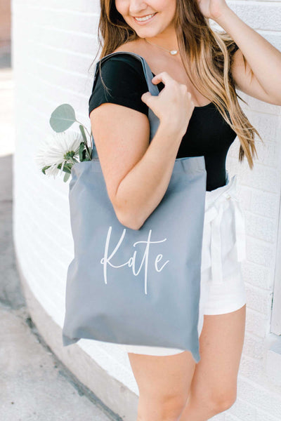 Personalized Tote Bag - Gray 5
