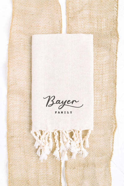 Personalized Tea Towel - Tan 1