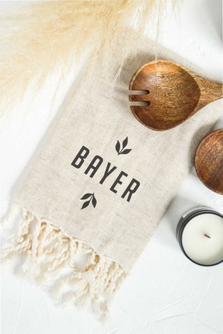 Personalized Tea Towel - Tan 2
