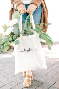 Personalized Tote Bag - Tan 2