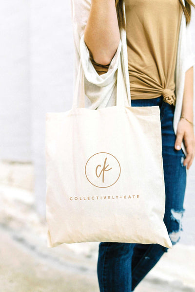 Custom Logo Tote Bag - Tan 6