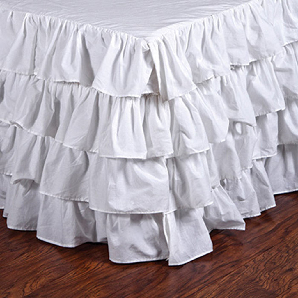 Pom Pom Bed Skirt in Audrey