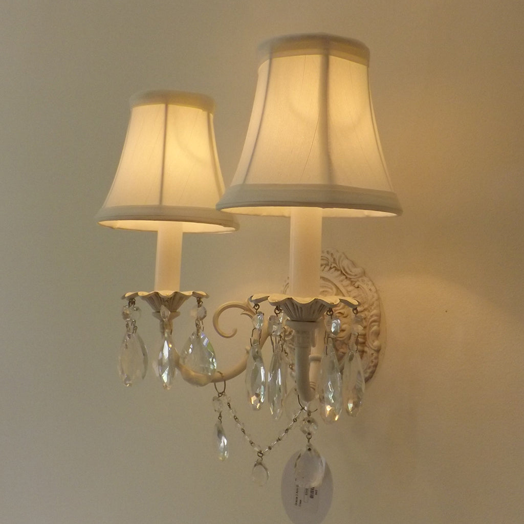 Beach Shabby Chic 2-Arm Sconce