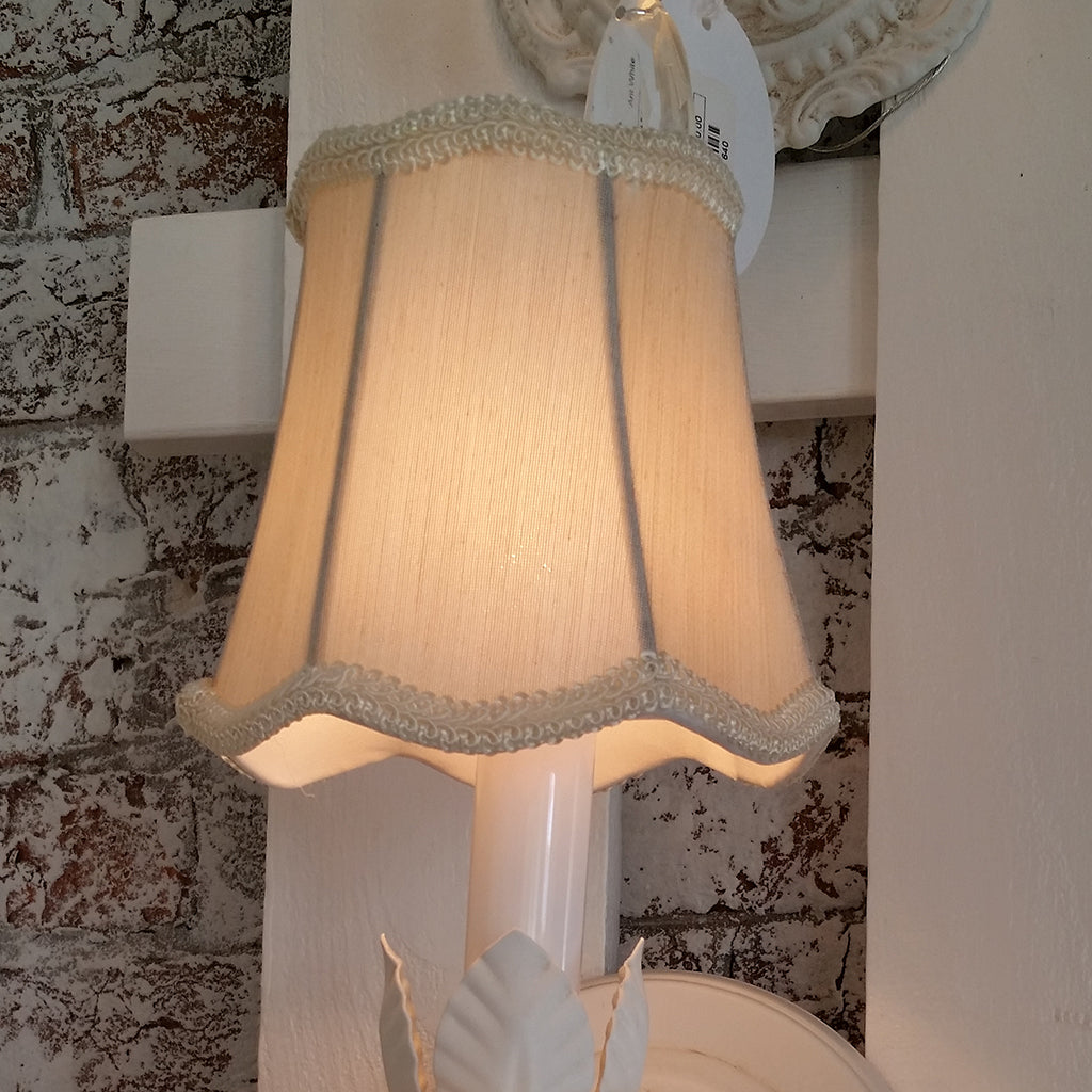 Cream Scalloped Bell Sconce Shade