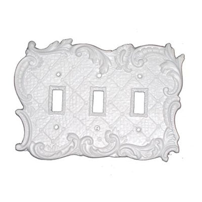Shabby Chic Style Triple Switch Plate