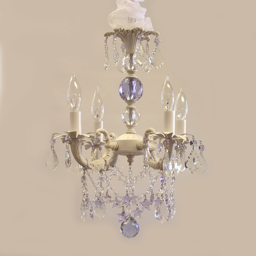 Plum Sparkle Chandelier