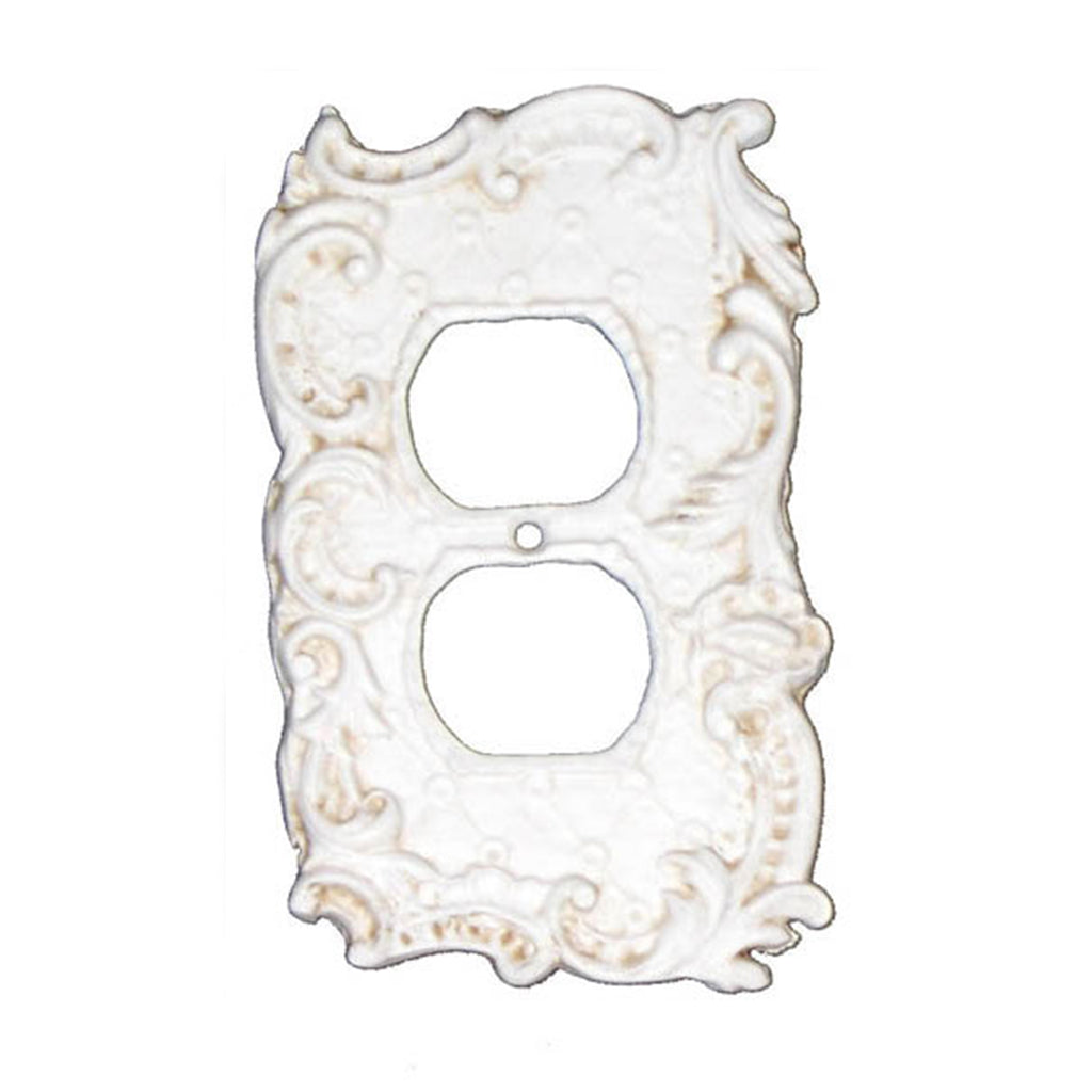 Shabby Chic Style Double Receptacle Plate