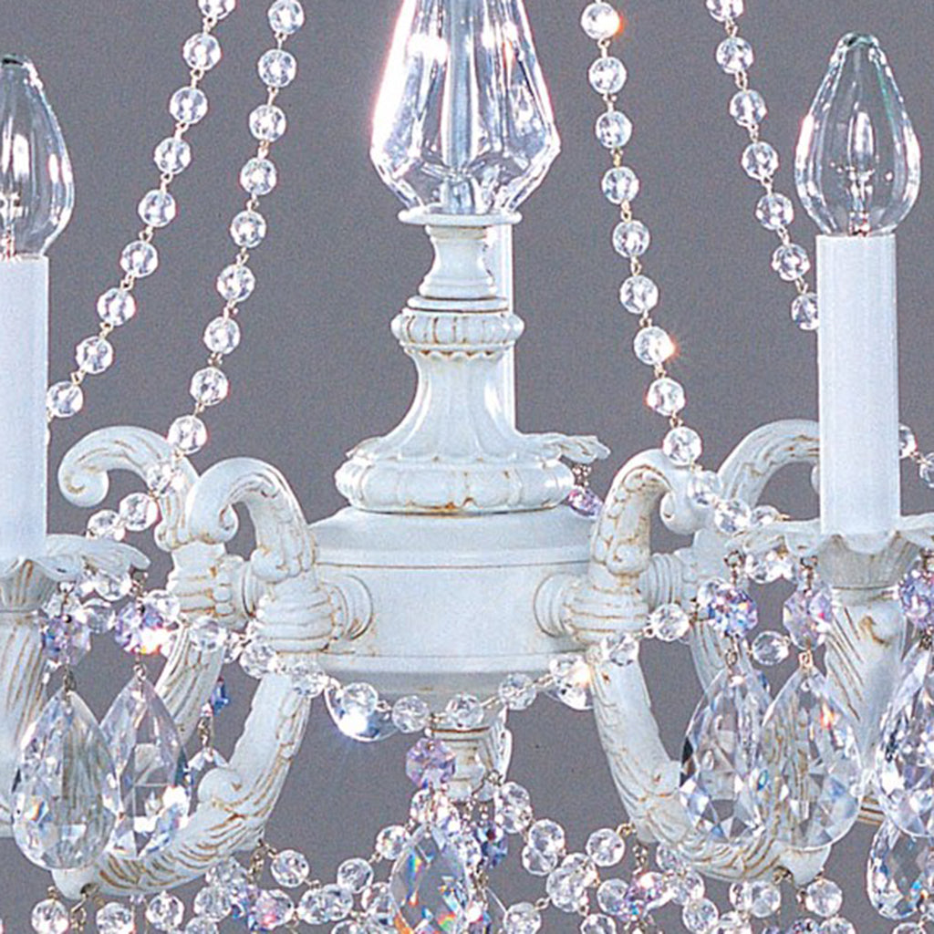 Shabby Chic Style Large Crystal Chandelier
