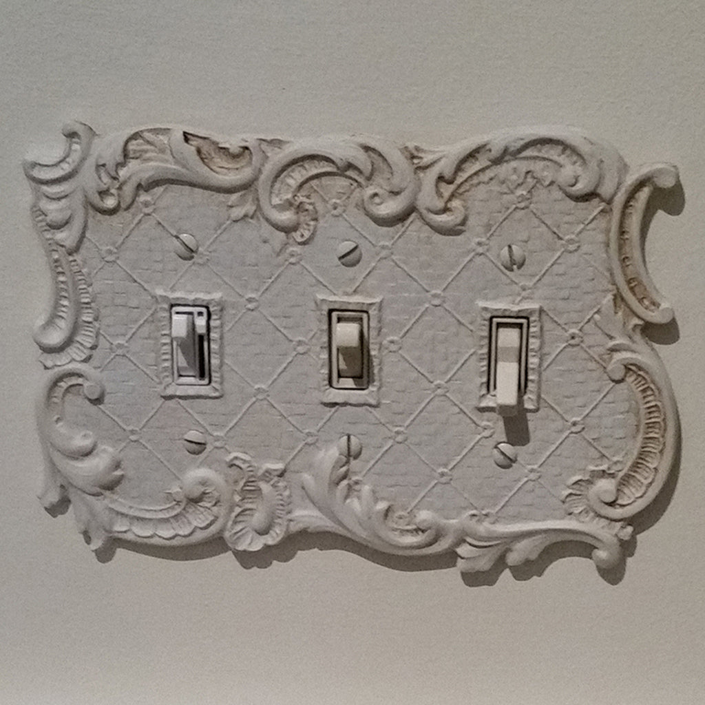 Shabby Chic Vintage Triple Switch Plate