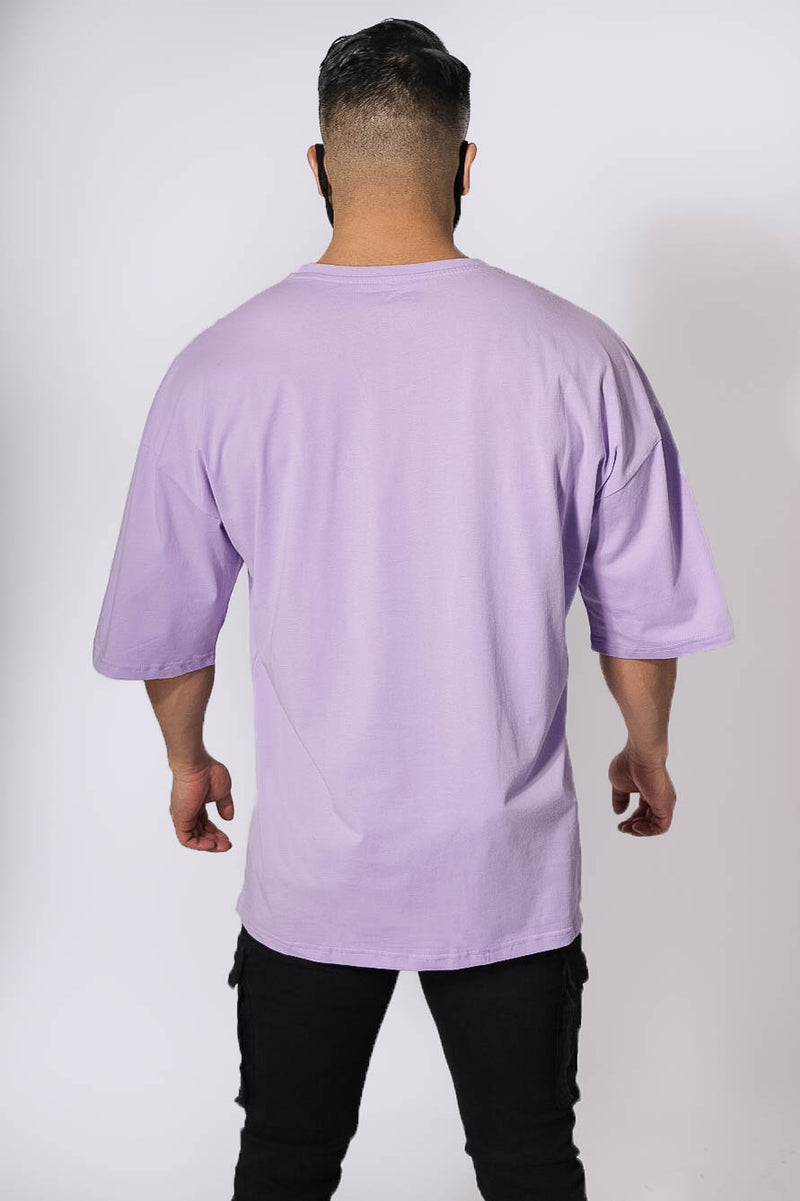 Focal Oversized T-Shirt - Purple