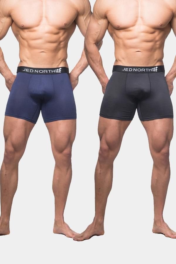 Brooklyn Performance Boxer Brief 2 Pack - Navy & Black