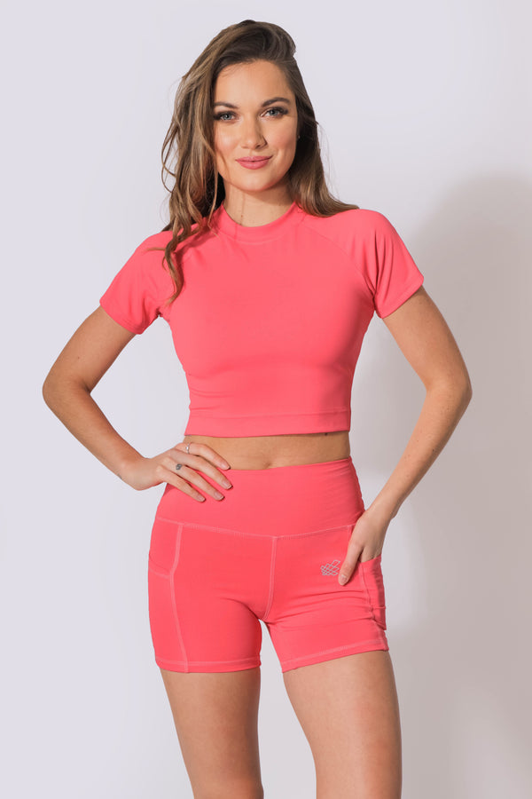Glory Crop Top - Pink