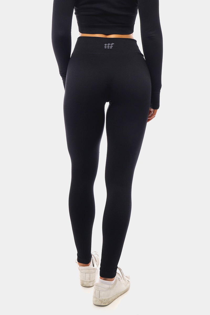 Luna Seamless Leggings - Black