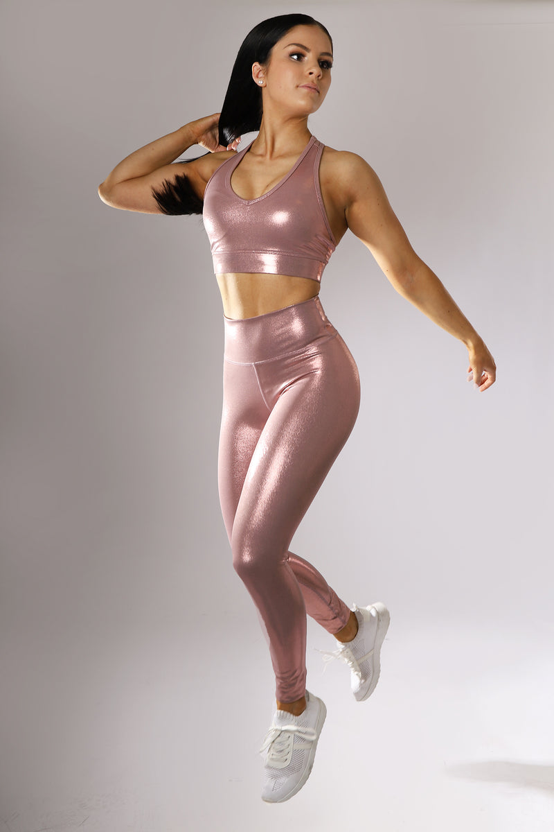 Luminous Leggings – Pink Metallic