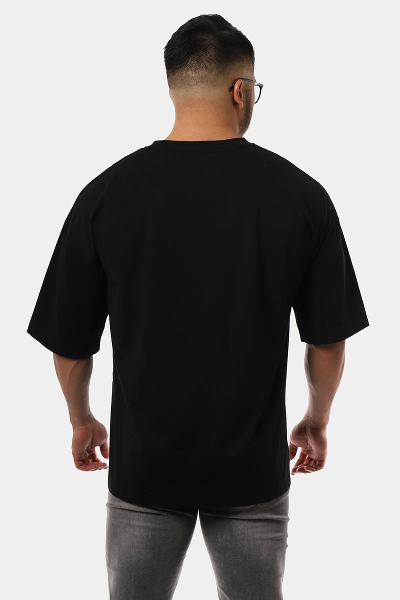 Energy Oversized T-Shirt - Black Plain