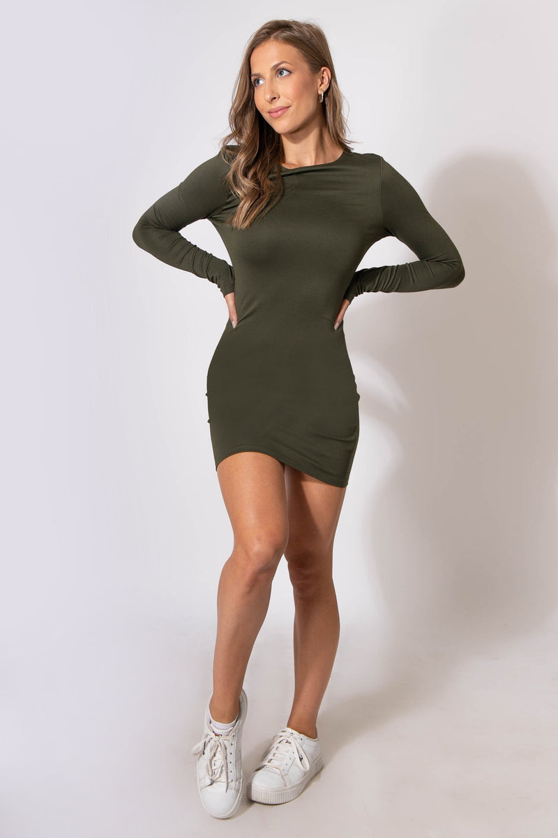 Beverly Long Sleeve Dress - Olive
