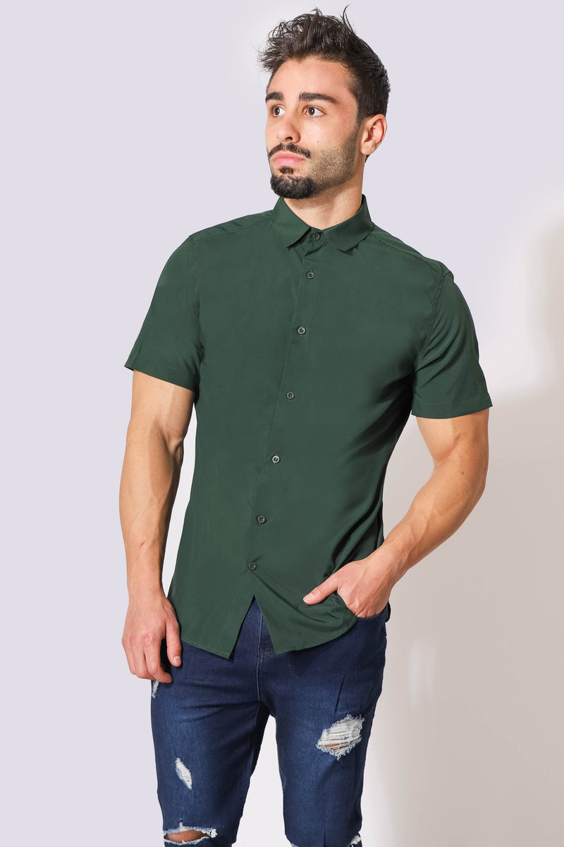Rogue Slim-Fitted Button Up Shirt - Green