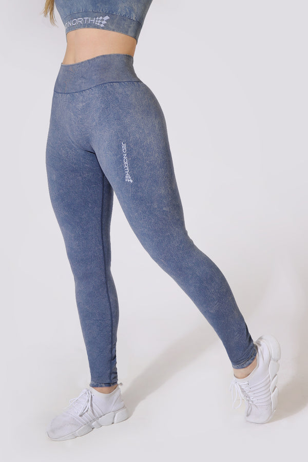 Haze Marble-Vintage Leggings - Navy