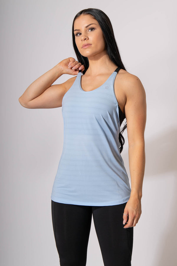Balance Bra Tank Top- Blue