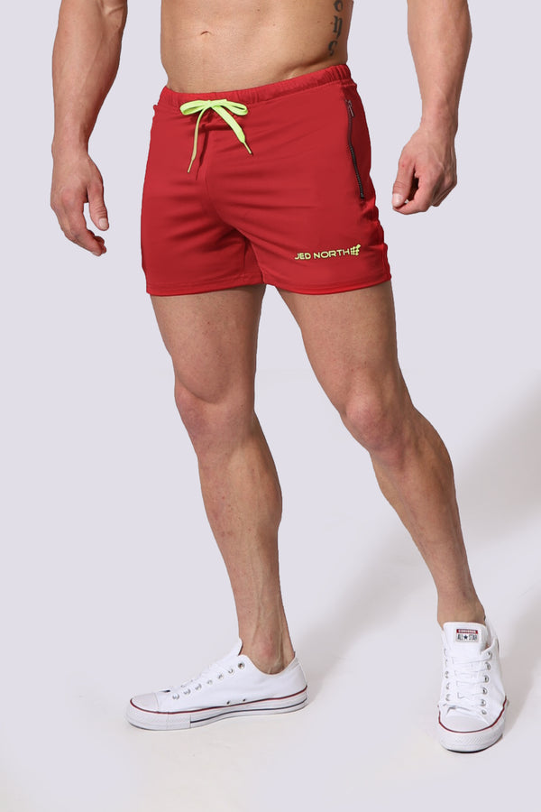 Agile Workout Shorts - Crimson Red
