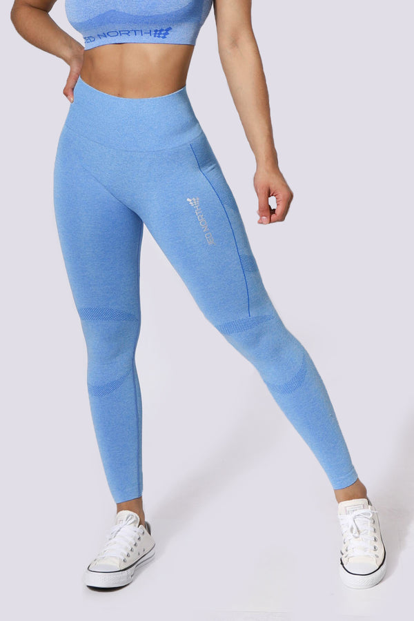 Supple Seamless Leggings - Blue
