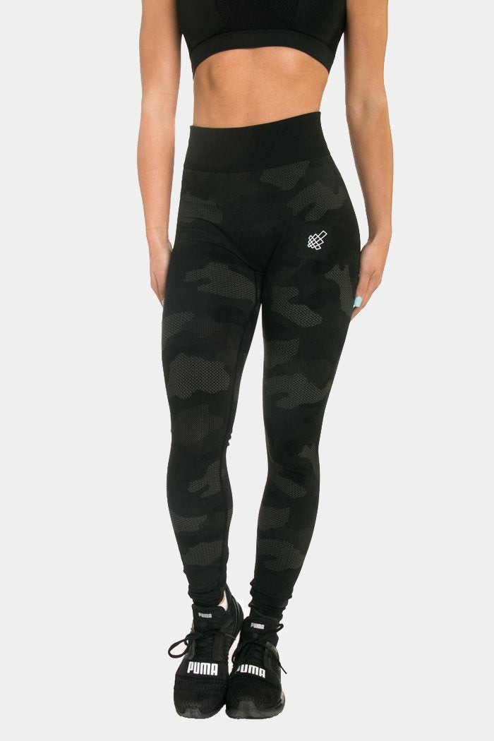 Flora Seamless Leggings - Black Camo