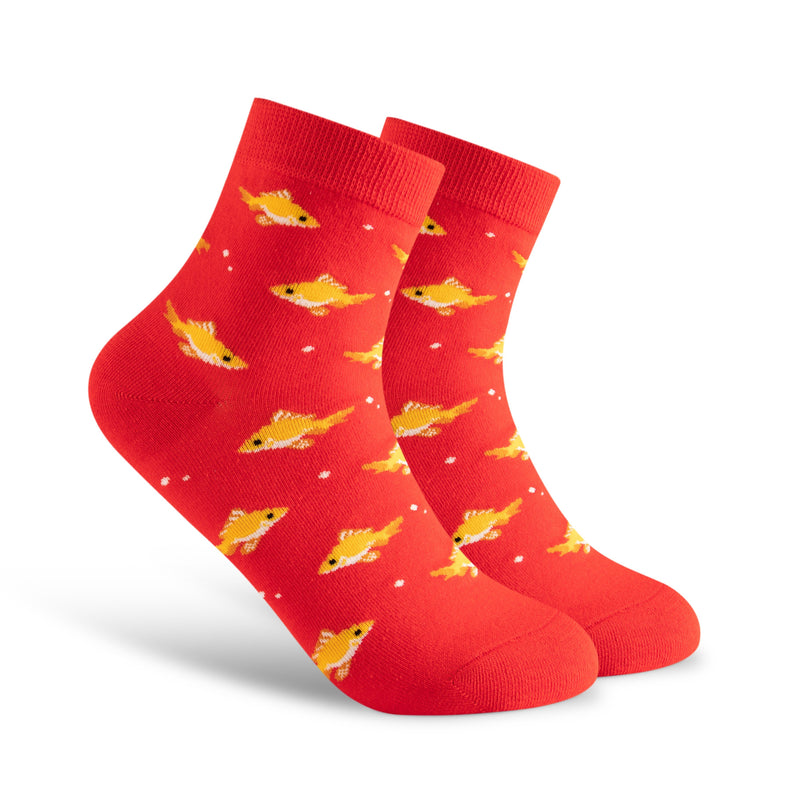 Women's Sock Bundle of Four. Comfortable and Cozy. Cats. Dogs. Goldfish. Bird. Funky. Gift.