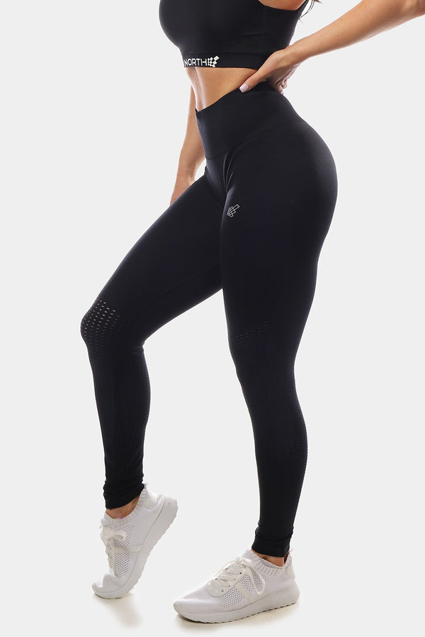 Cascade Seamless Leggings - Black